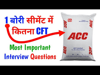 Volume of one bag cement in CFT
