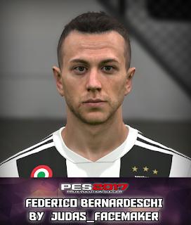 PES 2017 Faces Federico Bernardeschi by Judas
