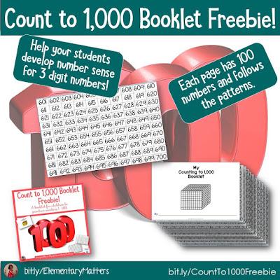 https://www.teacherspayteachers.com/Product/Count-to-1000-Booklet-Freebie-5165506