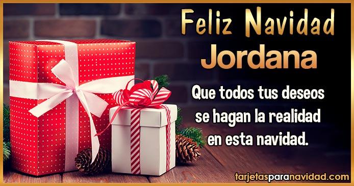 Feliz Navidad Jordana