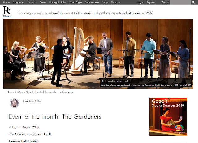 The Gardeners - Event of the Month - Opera Now Magazine