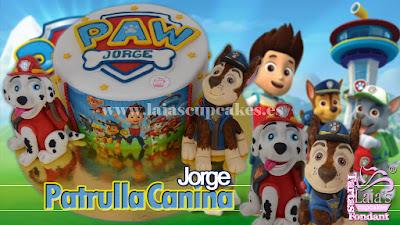 Tarta personalizada fondant modelado Paw Patrol Patrulla Canina Laia's Cupcakes Puerto Sagunto