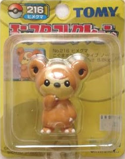 Teddiursa Pokemon figure Tomy Monster Collection yellow package series