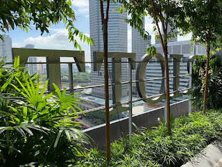 "Behind the ""JW Marriott"" signage on level 18, JW Marriott Singapore Beach Road, 2021"