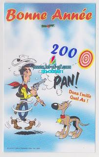 Carte Postale, Bonne année 2000, Lucky Luke, 1999
