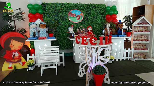 Decoração infantil Chapeuzinho Vermelho  - Provençal simples com muro inglês