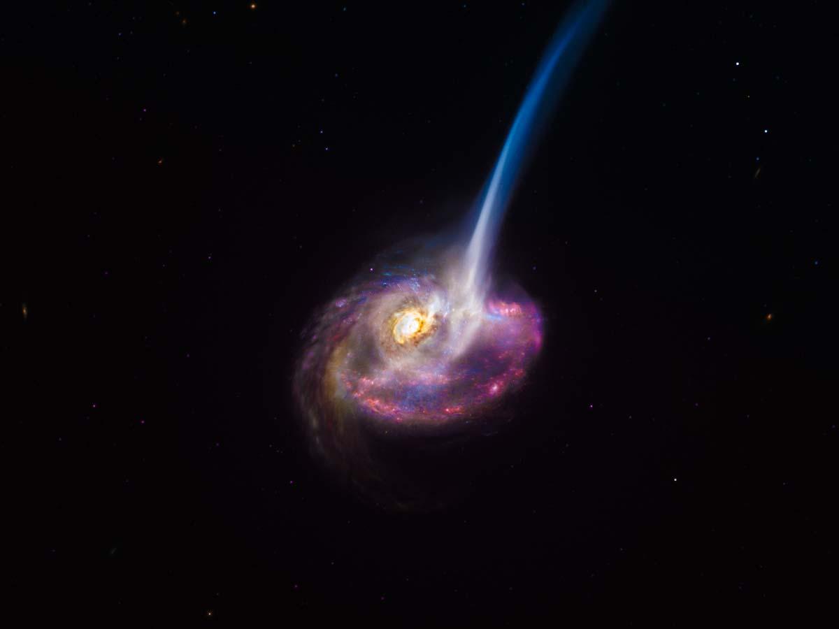 Rádio-observatório capta galáxias distantes em colisão morrendo ao perder capacidade de formar estrelas