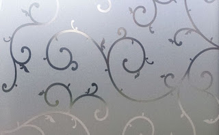 Frosted Glass with a Design