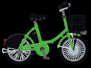シェア自転車のイラスト(緑)