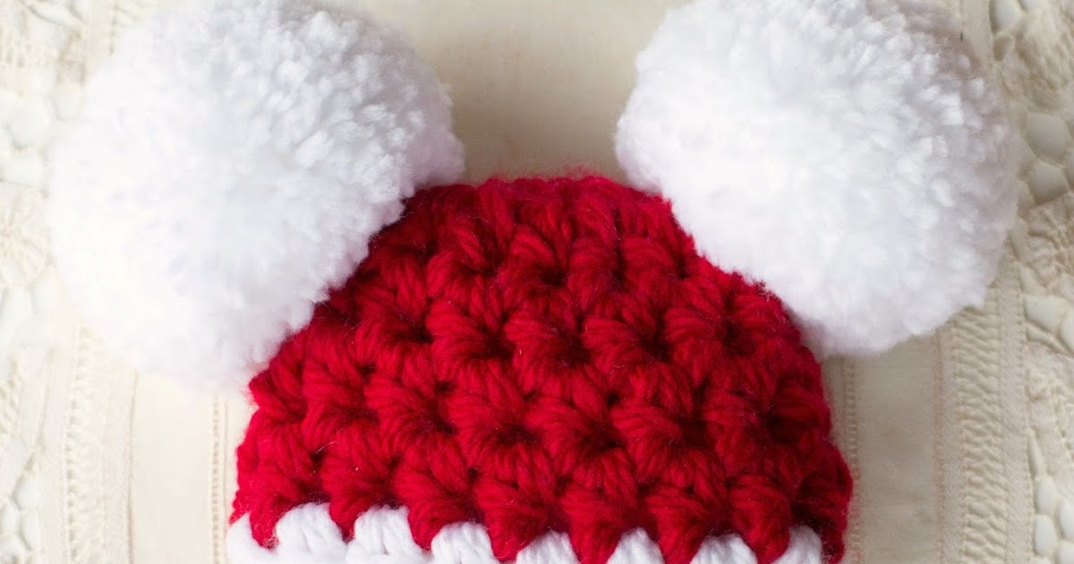 Beautiful Crochet Baby Santa Hat Free Pattern Image Collection ...