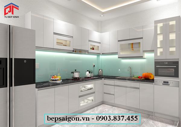 tu bep, tủ bếp hiện đại, tủ bếp đẹp, tủ bếp acrylic