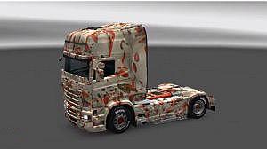 C4D Special paint job for Scania RJL