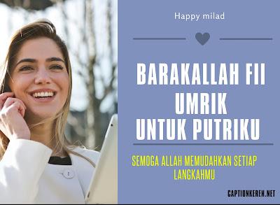 ucapan ulang tahun untuk anak perempuan islami