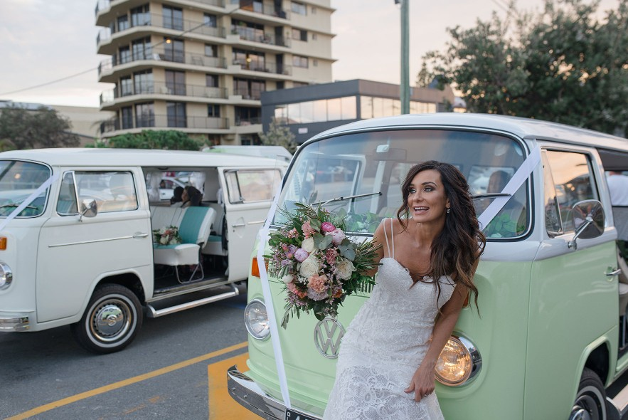 GOLD COAST BRISBANE SUNSHINE COAST BYRON BAY WEDDING VW TRANSPORT HIRE