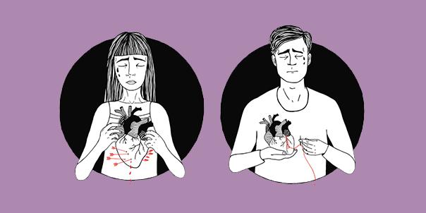 خمس حكايات قصيرة جدًّا عن انكسارات القلوب