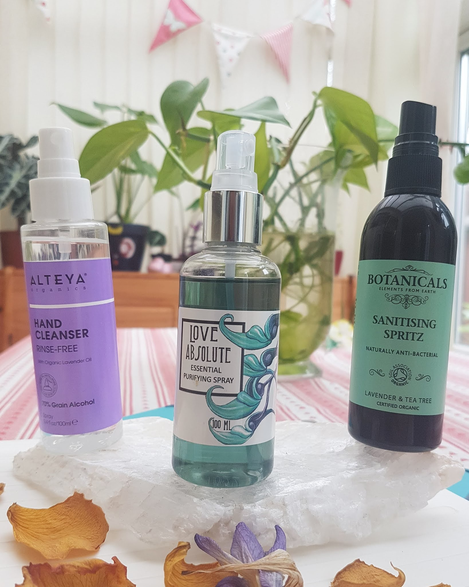 Safe Sanitizers - Natural Hand Sanitizer Guide -  Botanicals, Alteya, Love Absolute Review