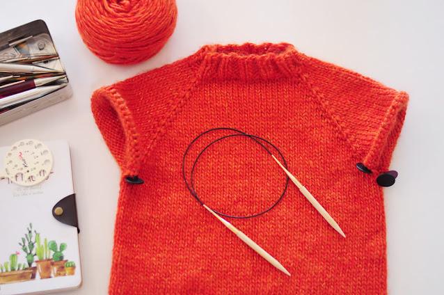 sweater agujas circulares