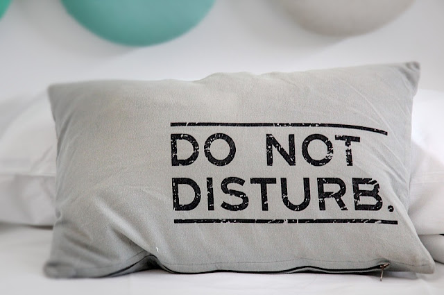 do not disturb pillow