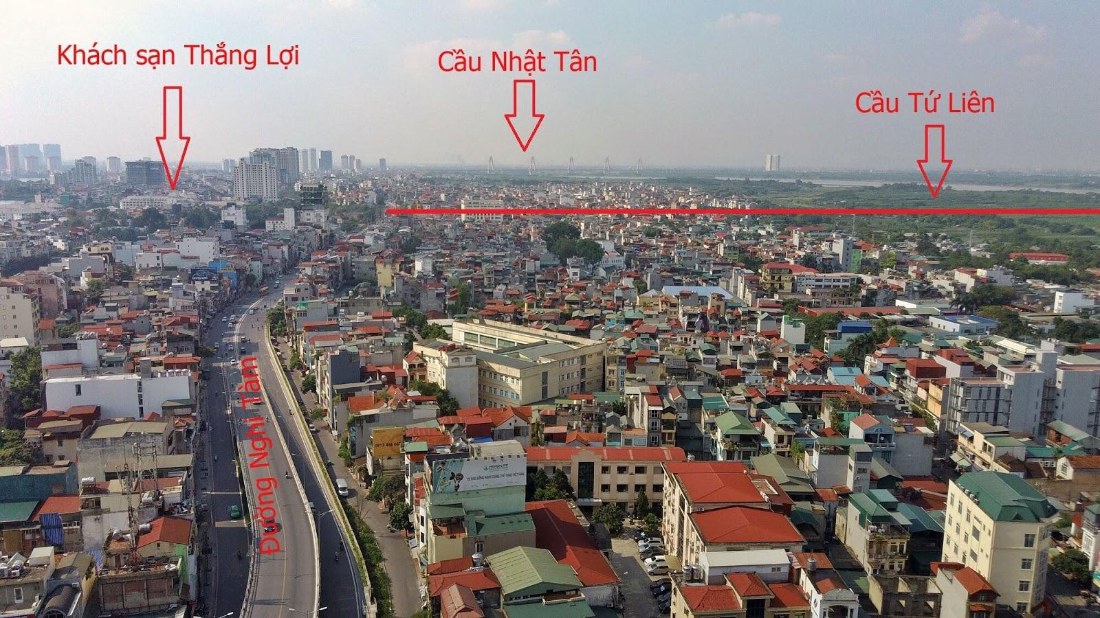 Điểm xuống là nút giao gần khách sạn Thắng Lợi.