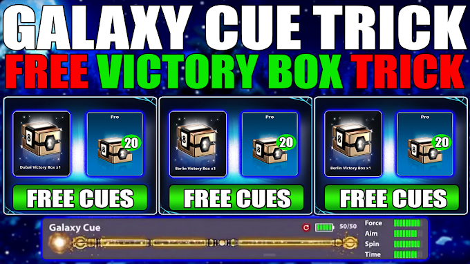 Free Cues || Free Victory Boxes || 8 Ball Pool 5.2.3 Free Gelexy Cue Trick 2020