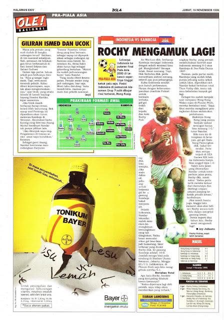 PRA-PIALA ASIA INDONESIA VS KAMBOJA ROCHY PUTIRAY