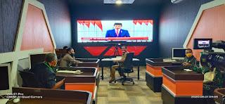 Dandim 1423 bersama Bupati Soppeng Hadir Di ruang SCC La Mataesso Ikuti Video Conference Harla Pancasila 2020