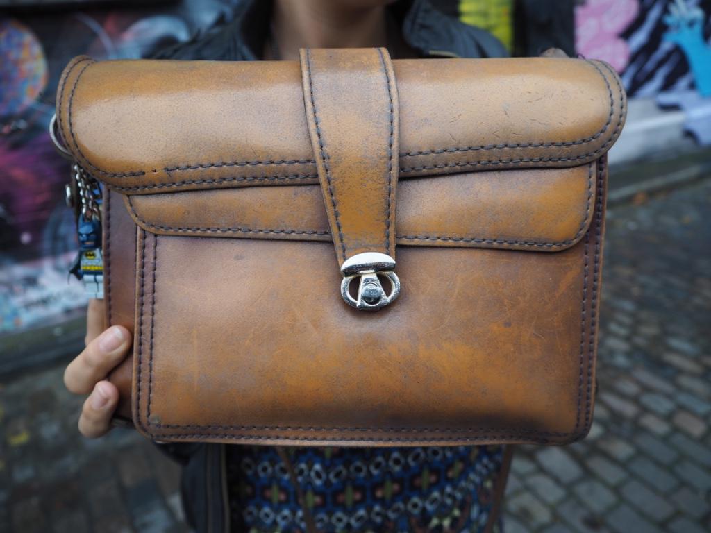 brown vintage satchel