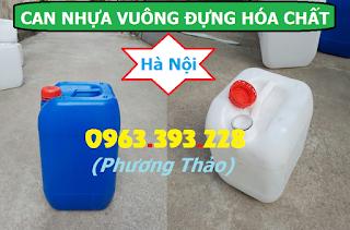 Sức khỏe, đời sống: Can nhựa vuông đựng hóa chất, can nhựa 20L, can nhựa 30L Canvuong30L