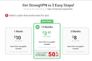 Harga dari StrongVPN