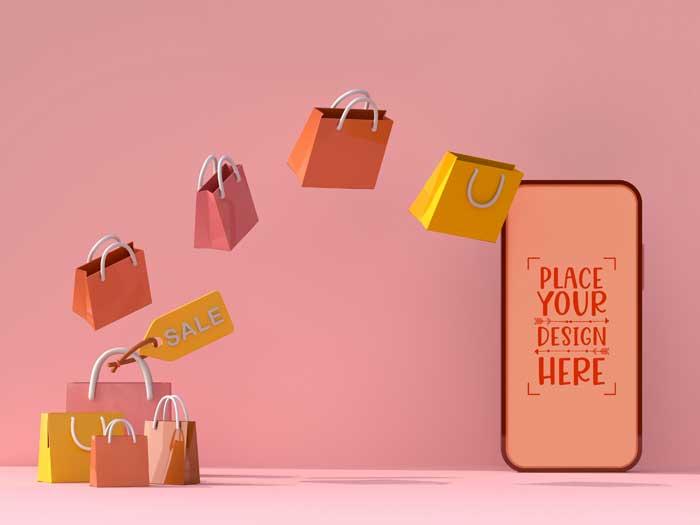Online Shopping PSD Mockup V-1