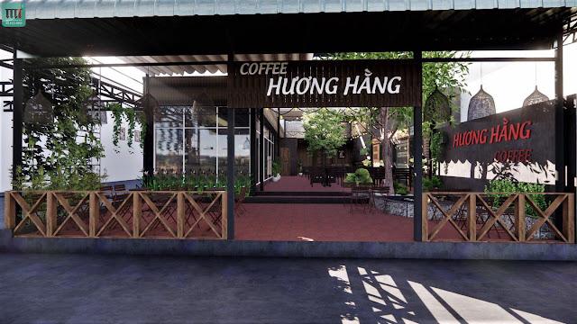 Bản thiết kế quán cafe đẹp