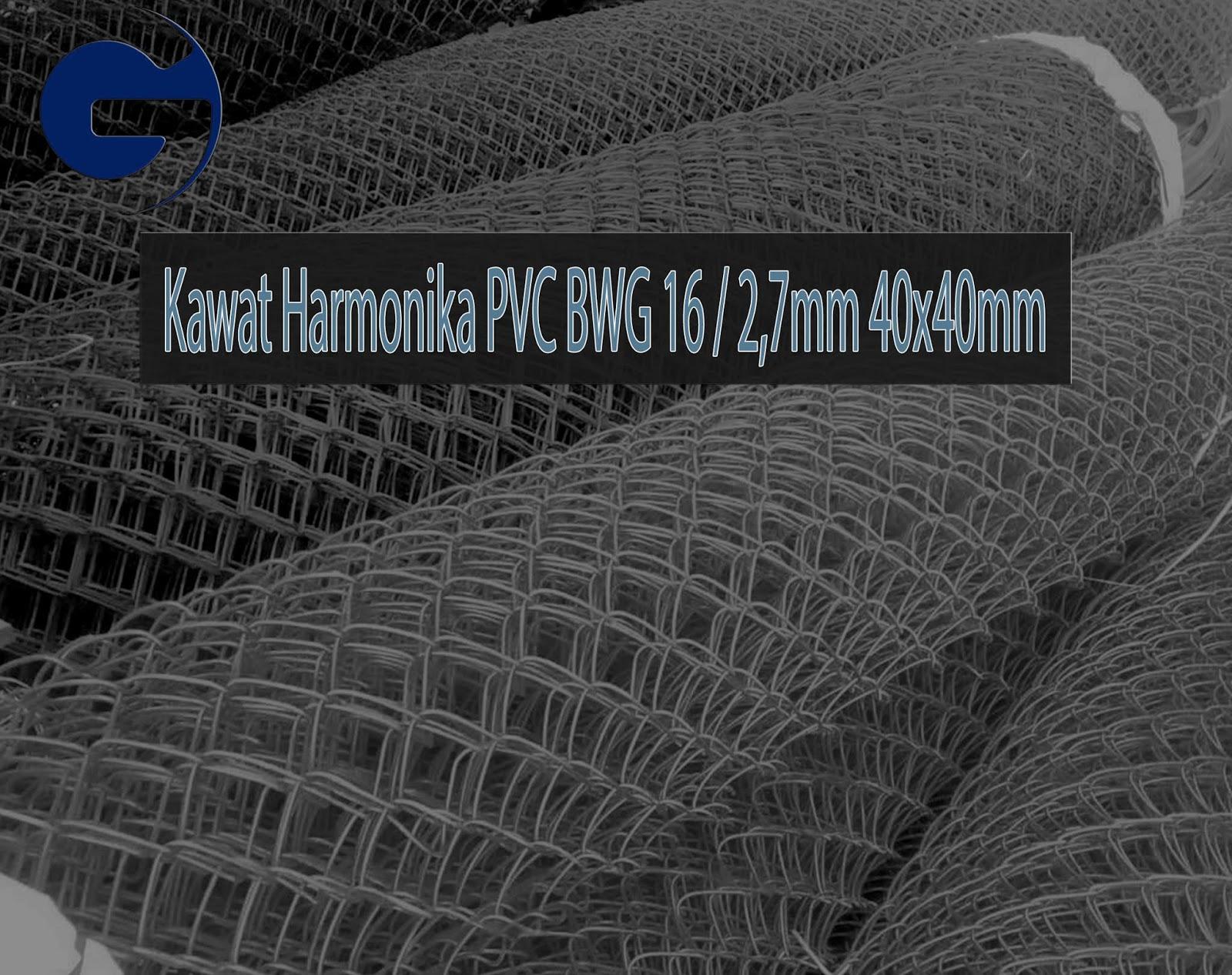 Jual Kawat Harmonika PVC SNI BWG 16/2,7mm 40x40mm