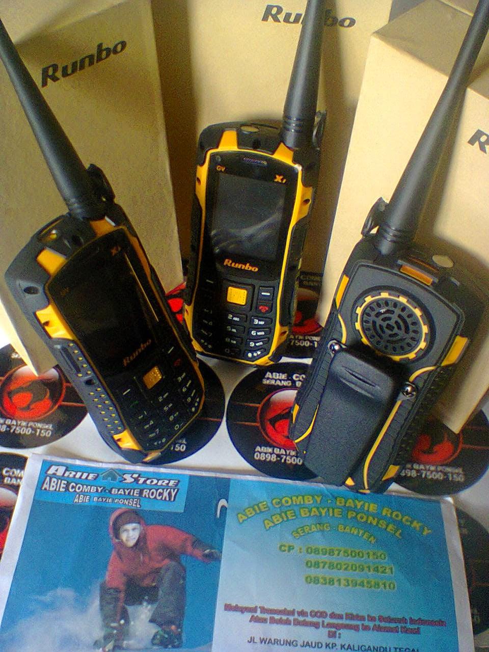 RUNBO X1 HANDPHONE MULTI FUNGSI BISA BUAT HT DENGAN ORARI VHF  WATERPROOF 129d152805
