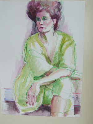 model schilderen aquarel