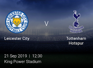 LIVE MATCH: Leicester City Vs Tottenham Hotspur Premier League 21/09/2019