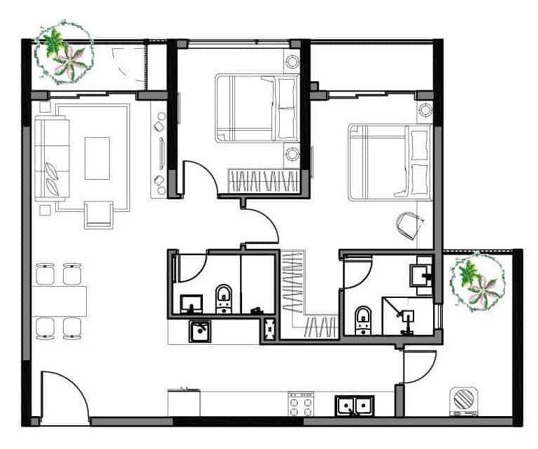 Bán căn hộ Diamond Alnata 92.5 m², 2 phòng ngủ, giá 4,1 tỷ