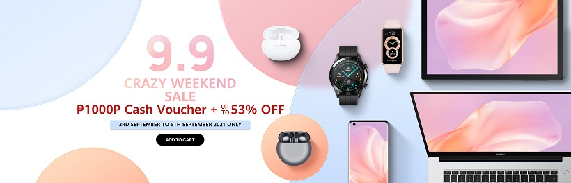 Complete your armour of Huawei gadgets this 9.9