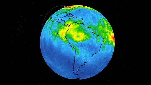 La NASA difunde un mapa de la 'explosión' de monóxido de carbono por los incendios en la Amazonia