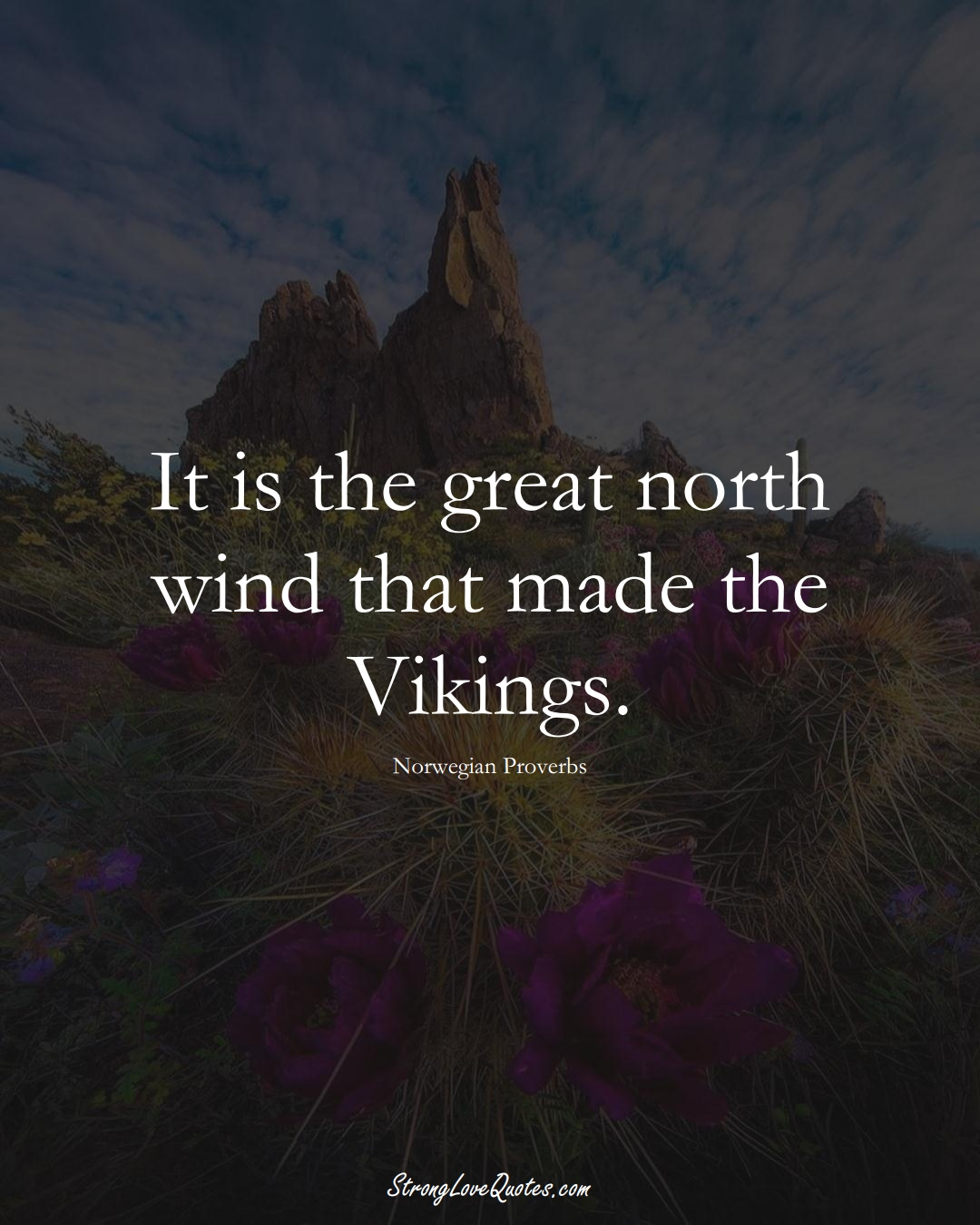It is the great north wind that made the Vikings. (Norwegian Sayings);  #EuropeanSayings