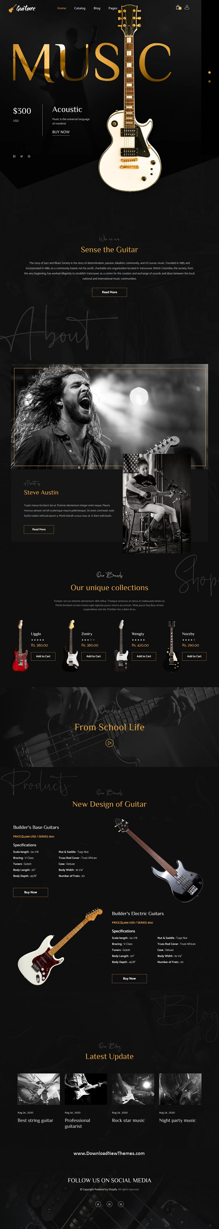 Online Guitar Store Shopify Theme