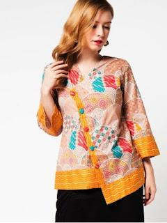 baju atasan batik wanita modern 2018