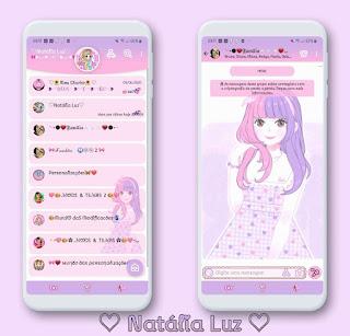 Cutte Girl Theme For YOWhatsApp & Aero WhatsApp By Natalia