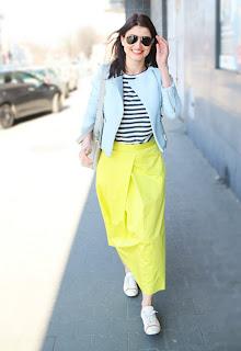 street style, style, wiosna, moda wiosna, cytrynowa spódnica, neonowa spódnica, stylistka poznan neony,