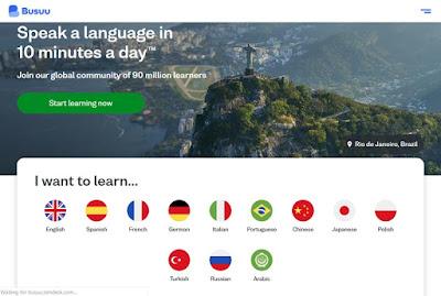 موقع busuu لتعلم اللغات
