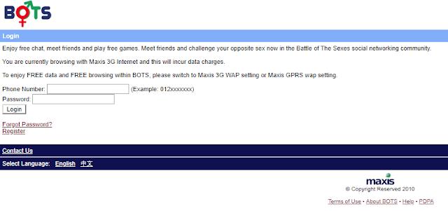 Mengenang BOTS Maxis dan Wap MyMlife