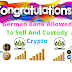 Congratulation German Banks Allowed to Sell