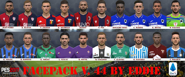 PES 2017 Facepack vol. 44 Serie A by Eddie