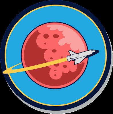 Mars Yuvarlak Logo Vektör