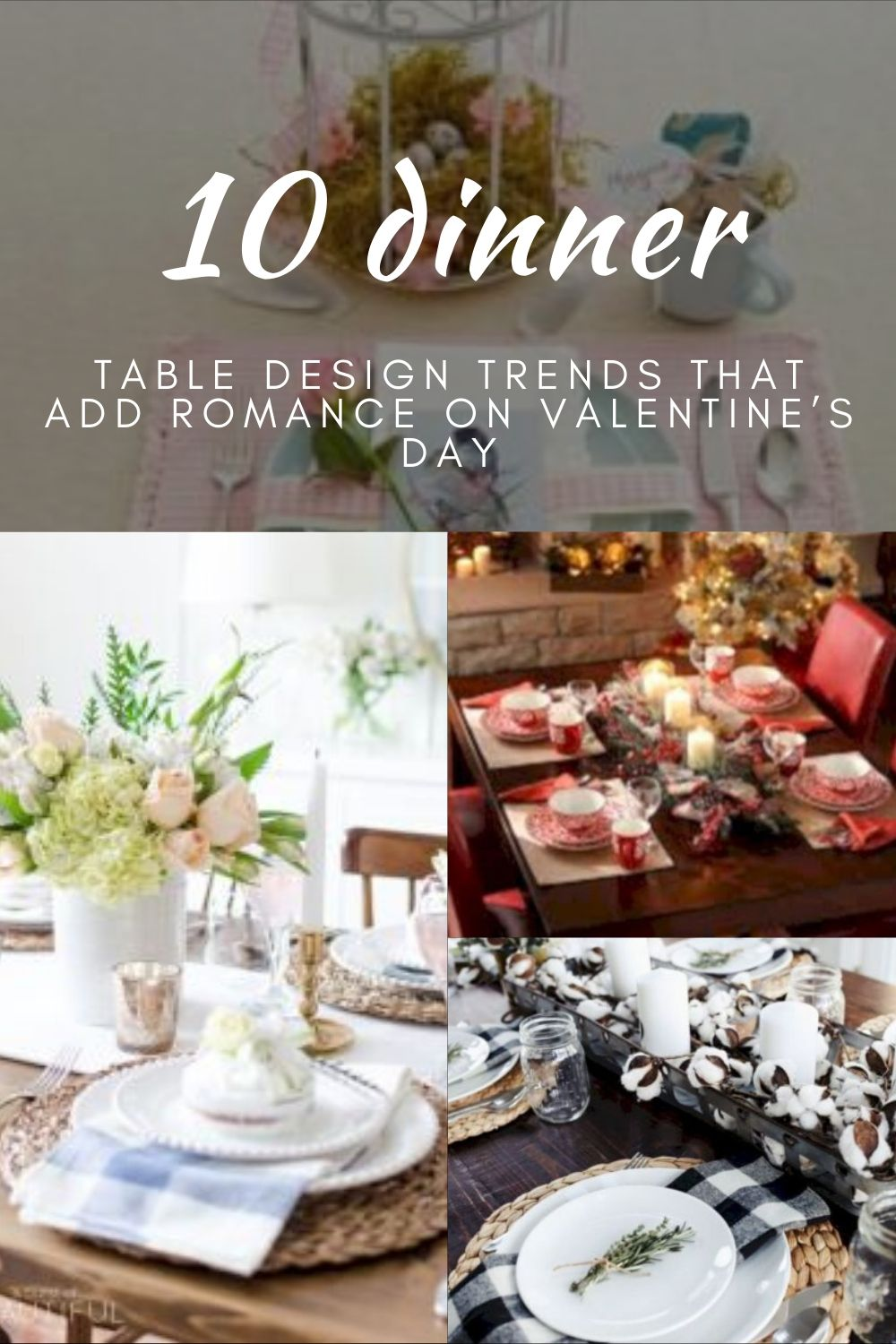 Table Design Trends That add Romance on Valentine's Day