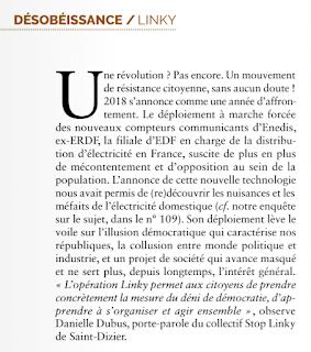 article de Nexus sur la résistance citoyenne page 1